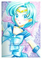Crayola Crayon Sailor Mercury by LemiaCrescent