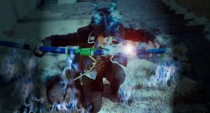 Okumura Rin Ao No Exorcist Cosplay by K-I-M-I