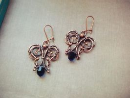 Waterfall earrings by WhiteSquaw
