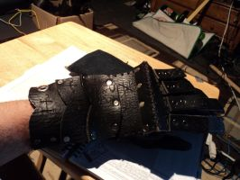 WIP - Leather gauntlet 3 by LeTrefle
