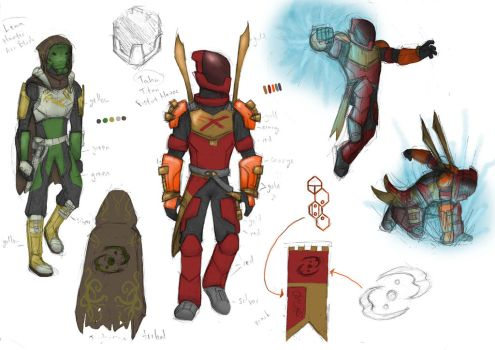 Bionicle/Destiny armor! by SteamMouse