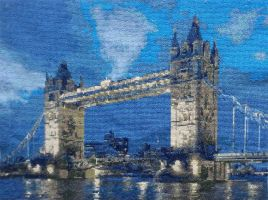 LONDON BRIDGE-cross stitch by agatrix