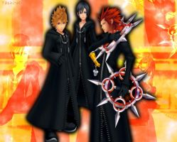 Xion, Roxas and Axel by TashitaDissidia