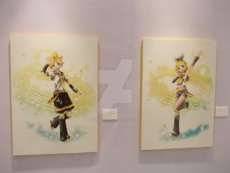 Miku Expo in INDONESIA [Kagamine Rin and Len] by Billa-Neko27