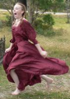 Graveyard - Red Dress - 02 by Gracies-Stock