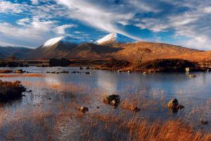 rannoch evening by mescamesh