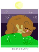 bear and bunny by Child-Of-Neglect