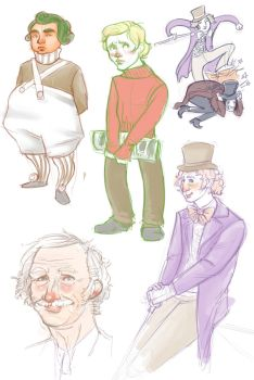 chocolate factory doodles by Lismu