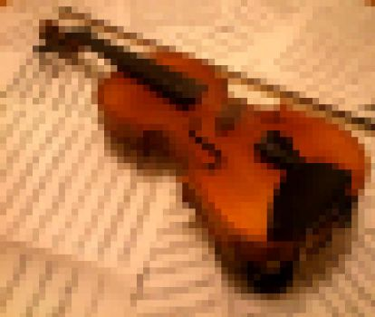 Harmony - Violin and Music (Pixelised) by scotlandwolf