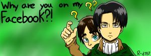 Attack On Titan Facebook Cover by RANDOM-drawer357