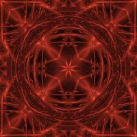 Red Metalized Mandala by Kancano
