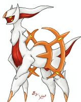 Arceus: Flame Plate Attached by Xous54