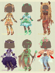 :Comm: outfits for Wintryabyss by BlackMayo