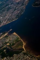 NYC Series - Aerial Sailboats by Katastrophey
