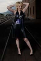 Black dress rail road stock by Blank-Photo
