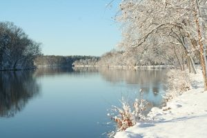 Winter River by DrThunder1963
