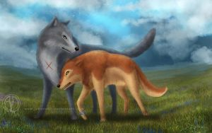 Wolf's Rain : Tsume and Toboe by Jenova87