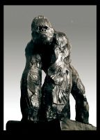 Gorilla II BRONZE by thedoberman