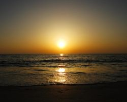 sunset at the beach - May 2011 by Chrissy-Daniels