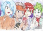 Playing inazuma eleven go 2 by Androide-Definitivo