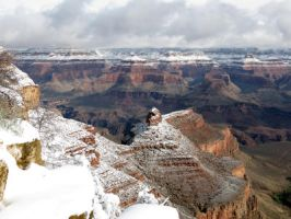 Grand Canyon Snow by LaurelPhotoandCraft