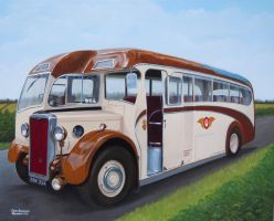 A 1949 Crossley SD42/7 'Luxury' coach by huckerback6