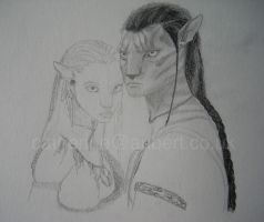Jake and Neytiri WIP by shadow-of-insanity