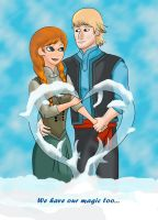 Kristoff and Anna - Valentine's Day. by DemianDillers