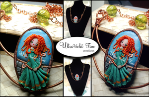 Polymer Clay -Merida (The Brave) by Crystarbor