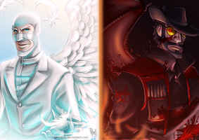 TF2: Angel vs Demon by DarkLitria