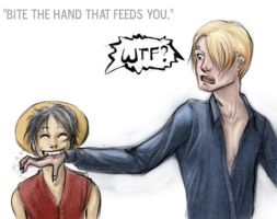 Bite the hand that feeds you. by ComradeBitter