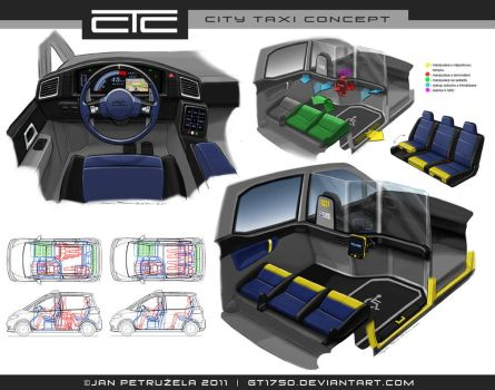 City Taxi Concept V2 Interior by gt1750