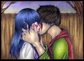 KibaHina- First kiss by Silently-dreaming