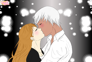 Jinja and Beyal New Year's Kiss by PiccoloFreakNamick