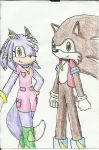 Lilac and Brune~ colored! by Violetthefox0001