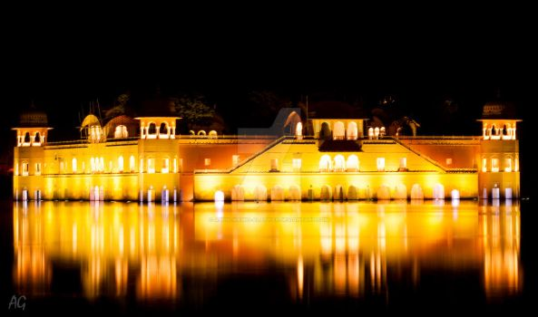 Jal Mahal - Water palace by abdulhamid-alattar