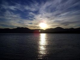 Sunset over Loch Linnhe by loganberrybunny