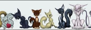 Death Note Kitties by ZaidaCrescent
