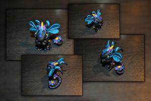 Baby Flower Dragon by KirstenBerryCrafts