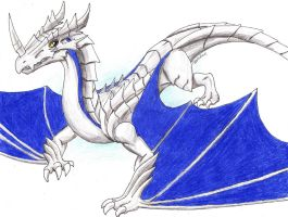 Stenzavos the Wyvern (Cartoonified) by Igglebock