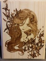 Woodburning - Butterfly Dream - Christmas Gift by Stepher17