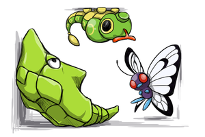 The Caterpie Family by Zerochan923600