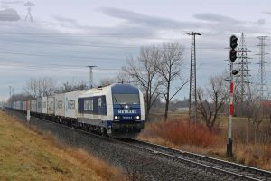 761 002 MeTrans with container train in Gyor by morpheus880223