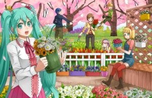 gardening vocaloids by grimay