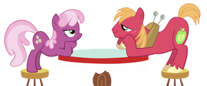 Big Macintosh and Cheerliee dating by Kaczyyy