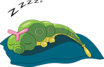 Caterpie Napping by TinyCuteThings