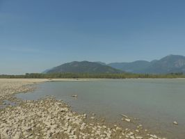 Island on the Fraser river 8/9/2014 ~6 by Mathayis