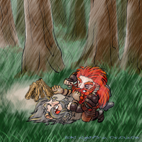 ...and Oin and Gloin began to fight by Loki-Nightfire