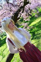 Under the trees- Belarus Gakuen cosplay by Voldiesama