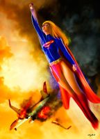 SUPERGIRL - AIRCRAFT SCENE by isikol